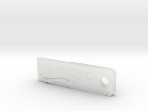 Material Sample - Sample Stand (ALL MATERIALS) in Smooth Fine Detail Plastic