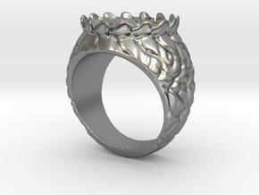 floral ring in Natural Silver: Medium