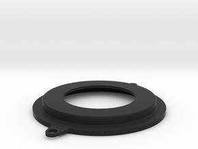 clock blank 52mm in Black Natural Versatile Plastic