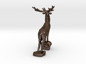 Noble deer in Polished Bronze Steel