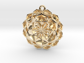 lotus_flower_D16mm in 14K Yellow Gold