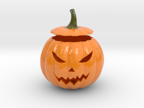 Halloween Pumpkin aka Jack-O-Lantern in Glossy Full Color Sandstone
