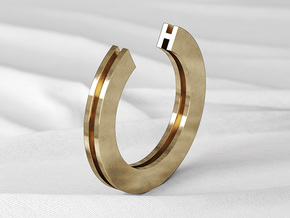H Ring in Natural Bronze: 6 / 51.5