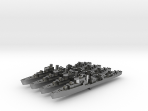 4pk T class British Destroyers 1:2400 WW2 in Natural Silver