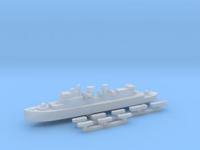 HMCS Prince David & landing craft 1:2400 in Smoothest Fine Detail Plastic