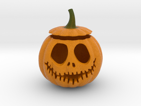 Halloween Pumpkin aka Jack-O-Lantern in Natural Full Color Sandstone