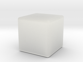 Very Expensive Cube in Smooth Fine Detail Plastic