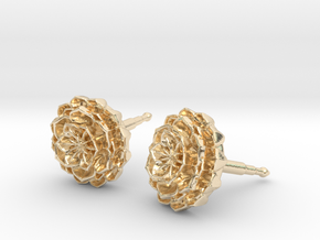 lotus_flower_stud_D8.5mm in 14k Gold Plated Brass
