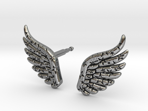 wings_and_stars_stud in Antique Silver