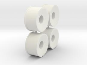 4x 20er Felge_2_Hinten1_leicht in White Natural Versatile Plastic