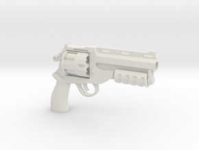 1:6 Scale BFG Revolver - Tactical Version in White Natural Versatile Plastic