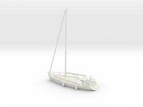 Sailboat 01.HO Scale (1:87) in White Natural Versatile Plastic