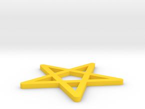 [1DAY 1CAD] STAR in Yellow Processed Versatile Plastic