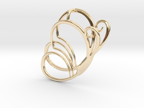 butterfly_side_hd in 14K Yellow Gold
