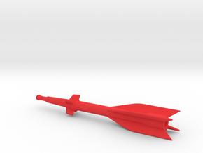 Captain Action Silver Streak Rocket - 7in Model in Red Processed Versatile Plastic