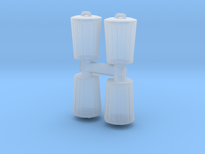 Trash can (x4) 1/120 in Smooth Fine Detail Plastic