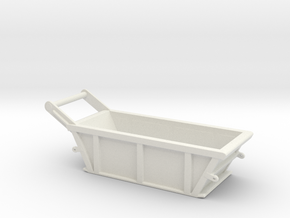 1/87th 5 cubic yard bedding box in White Natural Versatile Plastic