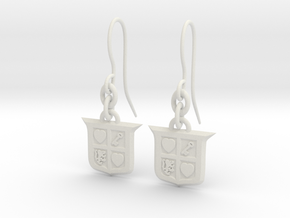 Legend of Zelda Inspired Earrings With Hooks in White Natural Versatile Plastic