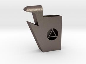 BiMaterial Juul Holder and Bottle Opener (Opener) in Polished Bronzed-Silver Steel