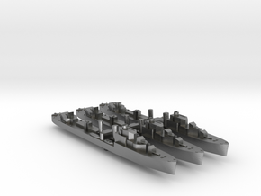 3 pack Havant class destroyer 1:1800 WW2 in Natural Silver