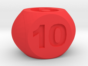 Dice for Orchard boardgame in Red Processed Versatile Plastic