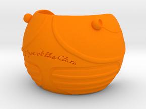 Golden Magical Ball Ring Box (Front half) in Orange Processed Versatile Plastic