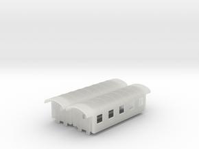ÖBB Spantenwagen 5-fenstrig 2 x B in Smooth Fine Detail Plastic