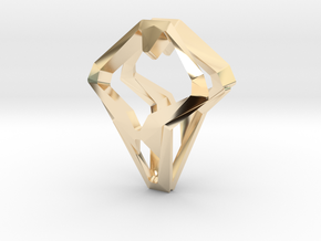 HEAD TO HEAD Open, Pendant.  in 14K Yellow Gold