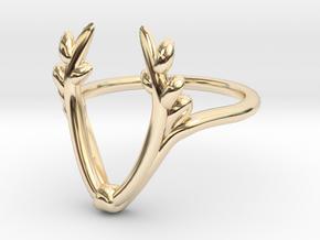 antler ring in 14k Gold Plated Brass: 5 / 49