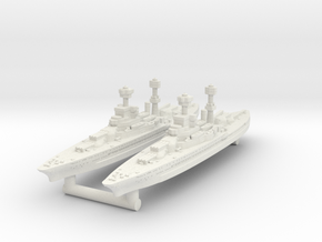 Tennessee Class Battleship (1929) [x2] in White Natural Versatile Plastic