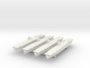 raAircraft Carrier Ranger [x4] in White Natural Versatile Plastic
