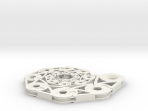 Roll-up Spiral 19-Segment in White Natural Versatile Plastic