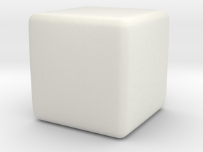 1 Cubic Centimetre in White Natural Versatile Plastic