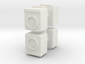 Washing Machine (x4) 1/120 in White Natural Versatile Plastic