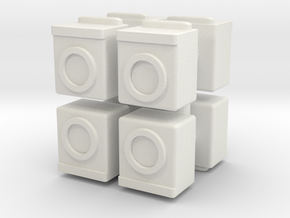 Washing Machine (x8) 1/144 in White Natural Versatile Plastic