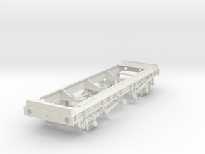 7mm TTA Caustic Soda tank chassis, leaf spring ver in White Natural Versatile Plastic