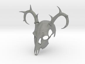 Deer Skull Mask in Gray PA12