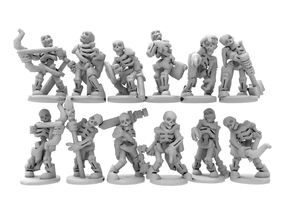 undead skeletons in White Natural Versatile Plastic