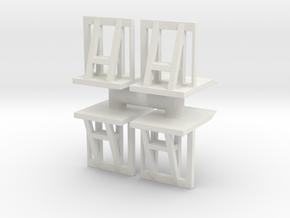 Crowd barrier (x4) 1/56 in White Natural Versatile Plastic
