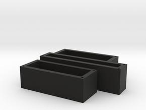 LED-Cap-Set in Black Natural Versatile Plastic