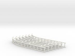 7mm Soda Tank wagon flatpack ladders x7 in White Natural Versatile Plastic