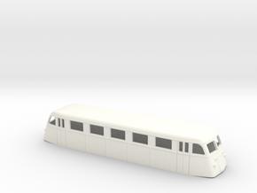 Swedish railcar Yo H0-scale in White Processed Versatile Plastic
