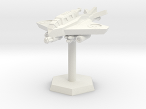 VTOL Fighter (Hovering High) in White Natural Versatile Plastic: Extra Small