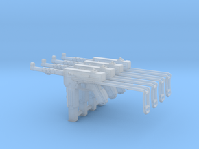 1:16 MAT-49 SMG French - Extended Stock x4 in Smooth Fine Detail Plastic