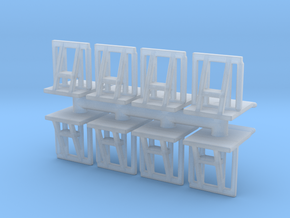 Crowd barrier (x8) 1/144 in Smooth Fine Detail Plastic