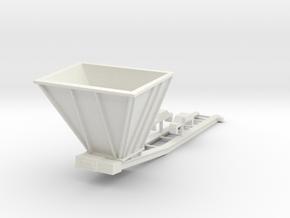 1/64th Hydraulic Excavator Bedding Conveyor in White Natural Versatile Plastic