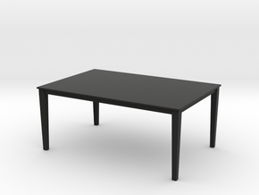1:24 Dining Room Table for Dollhouse in Black Natural Versatile Plastic