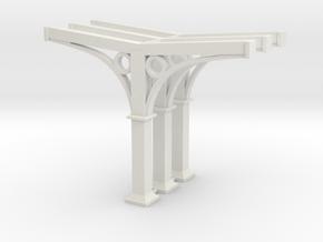 Perron pilaar set van 3  -  HO in White Natural Versatile Plastic: 1:87 - HO