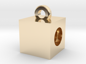Boxing Rings Cubed Pendent in 14K Yellow Gold