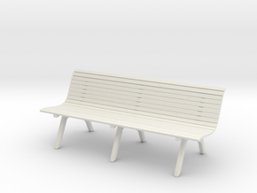 Wooden Bench Ver01. 1:24 Scale in White Natural Versatile Plastic